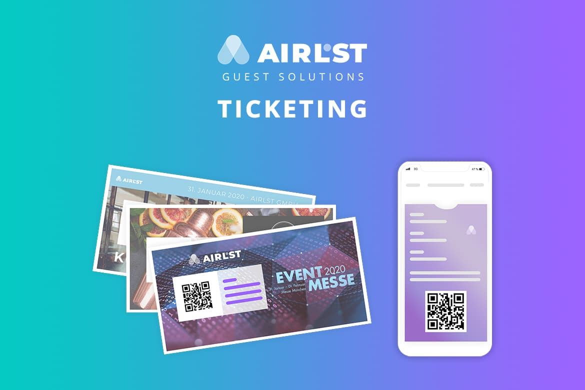 QR-Code Ticketing for professional event services.