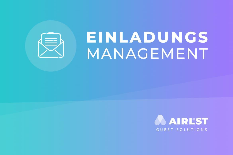 Das beste Einladungsmanagement mit AirLST Teilnehmermanagement.