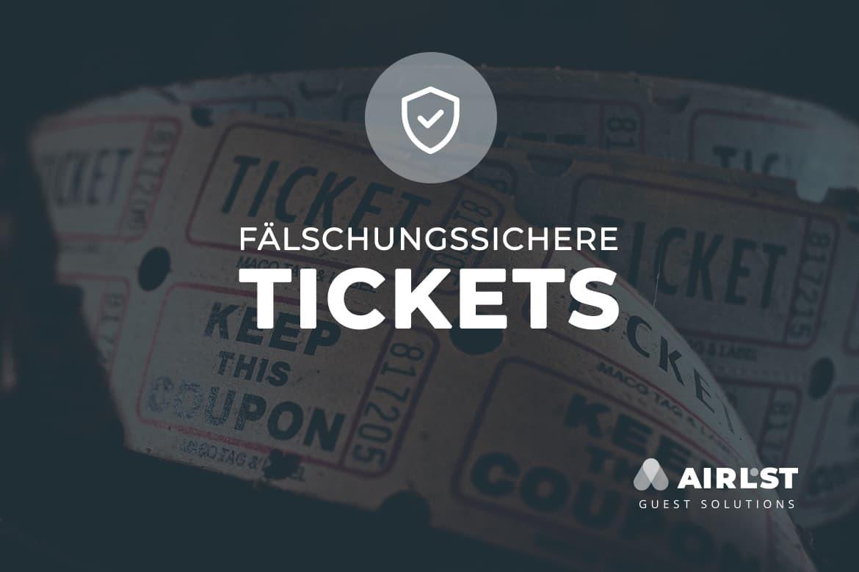 Digitale, fälschungssichere Tickets und Gästelisten