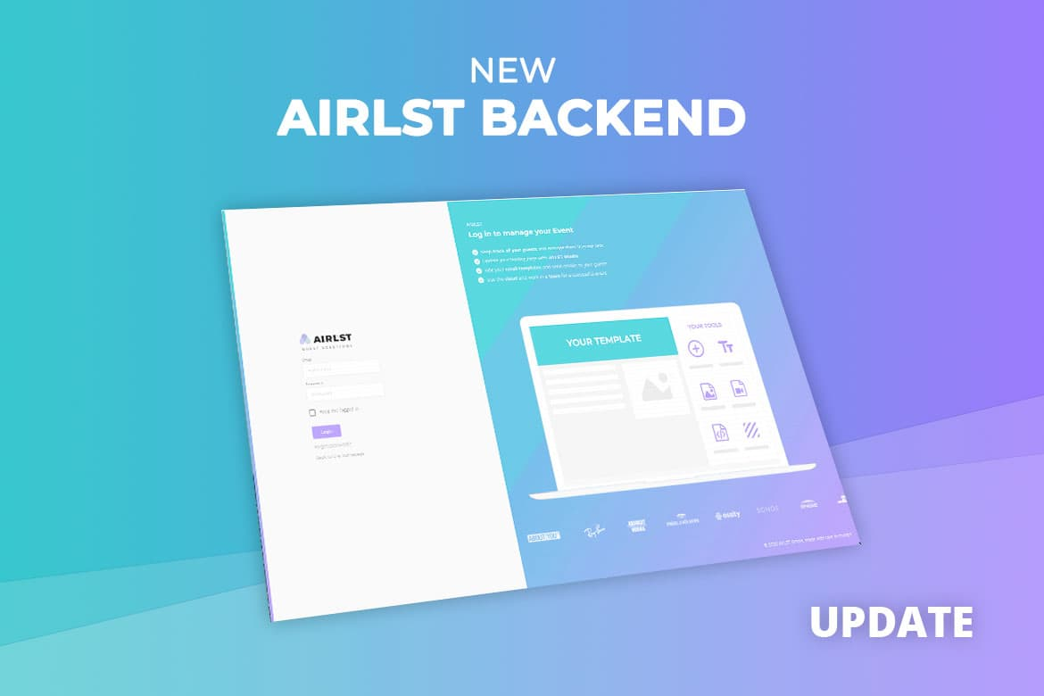 Software Update: new AirLST Backend