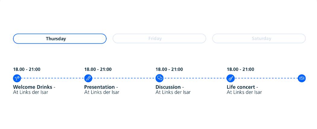 Agenda Widget for Event Managers Website