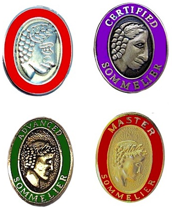 sommelier certification pins