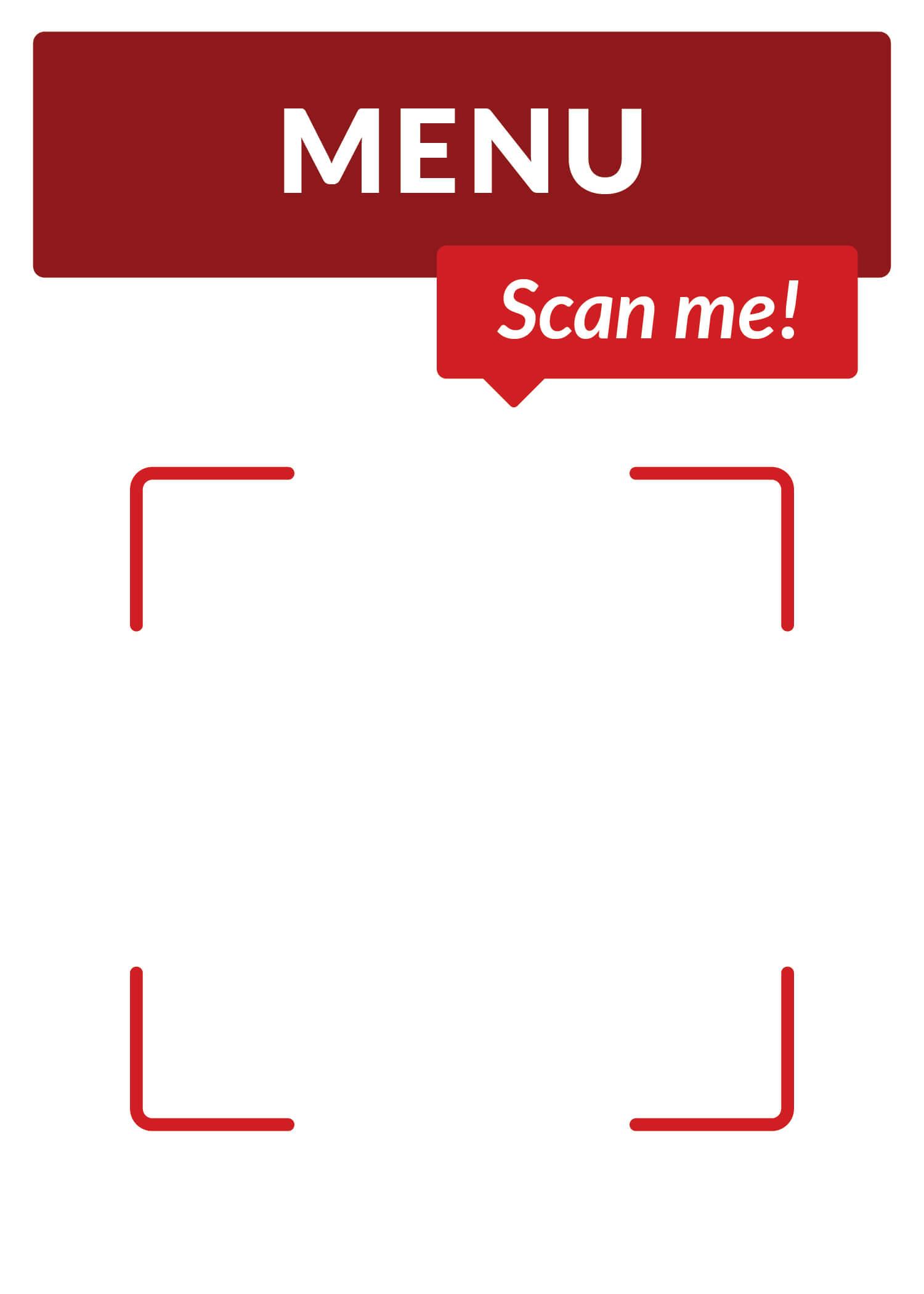 vertical qr code poster template