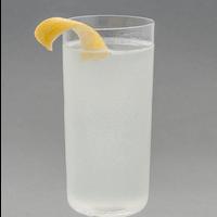gin fizz with a lemon twist