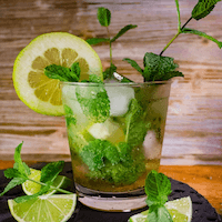 mojito with fresh lime