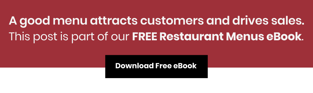 bar and restaurant menu types ebook