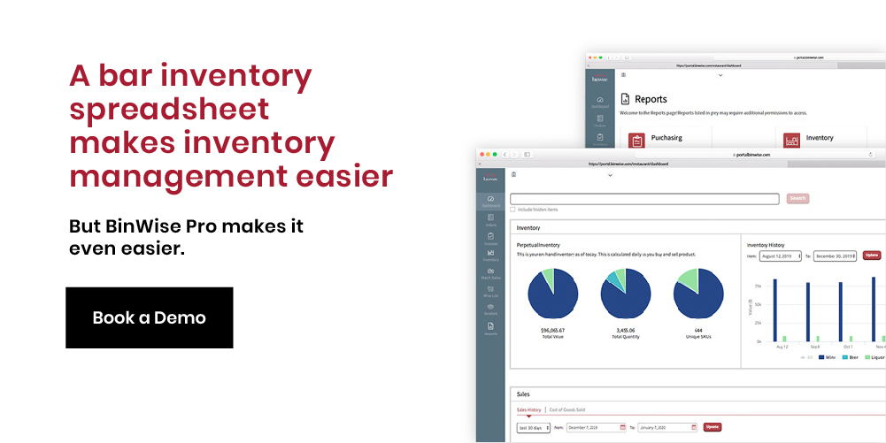 BinWise Pro bar inventory software