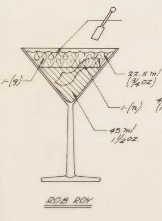 USDA Standardized Recipes for Rob Roy Cocktail