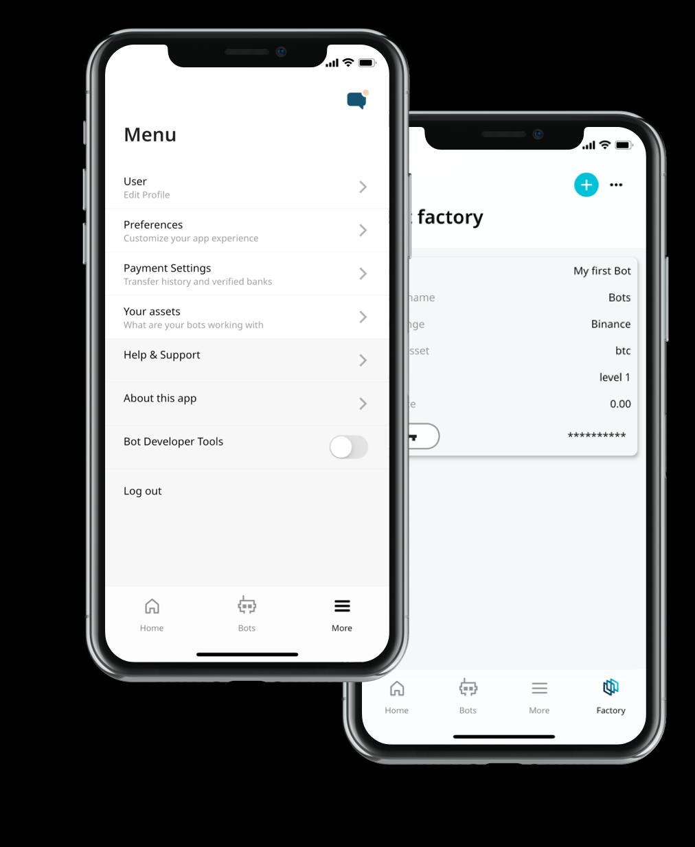 Activez le bouton Bot Developer Tools dans les paramètres de l'application.
