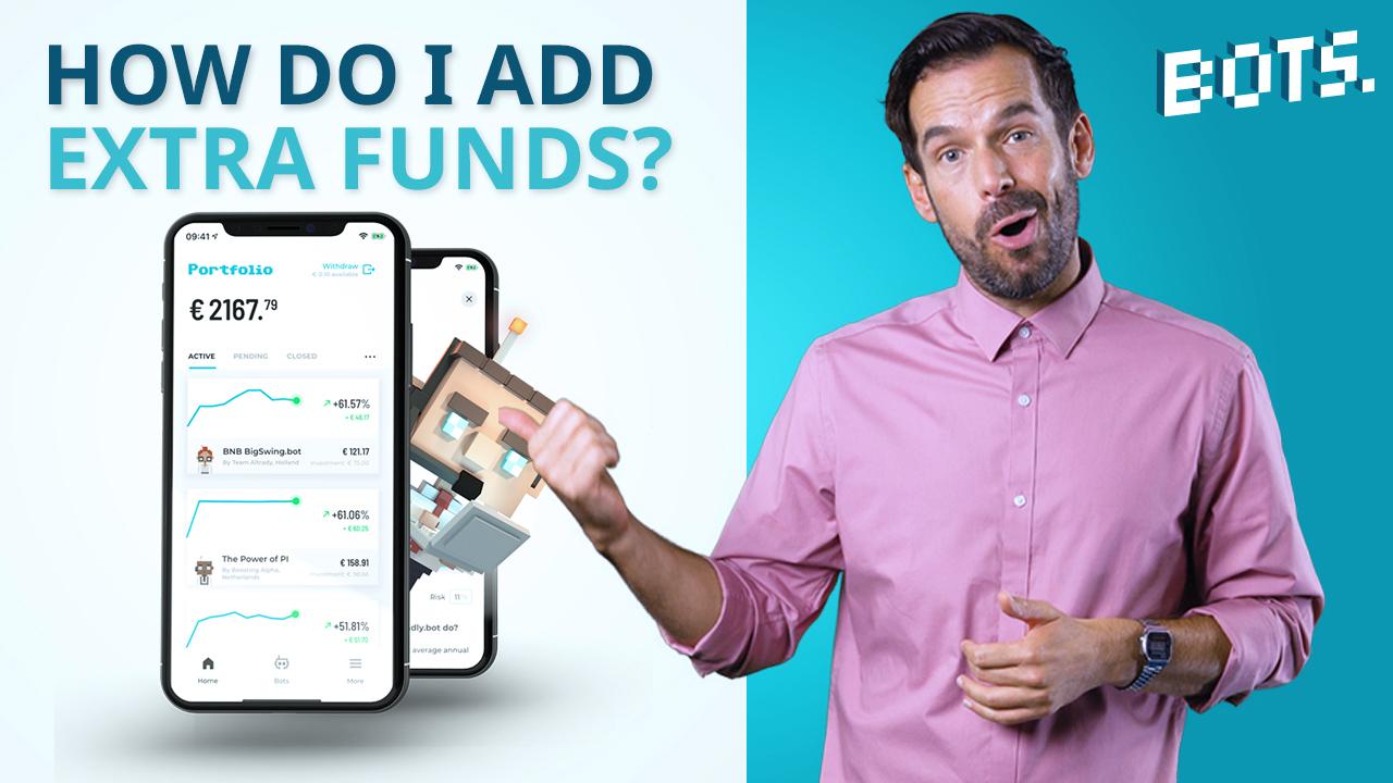 BOTS Blog : Comment déposer de l'argent supplémentaire dans l'application BOTS ?