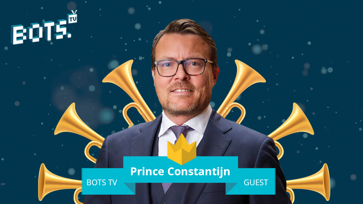 Prince Constantijn guest at BOTS TV on 23 April