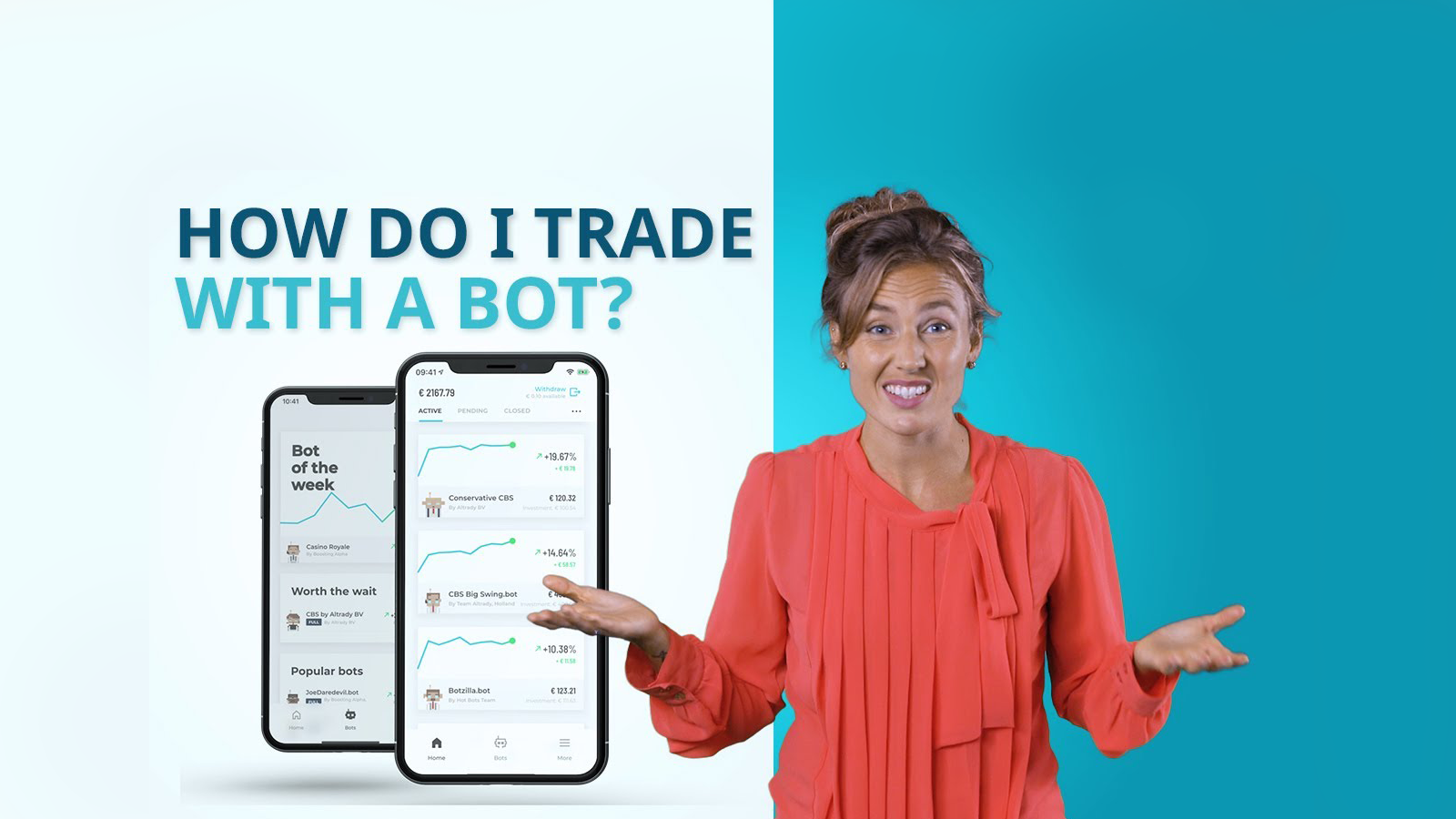 How do I trade with the BOTS app?
