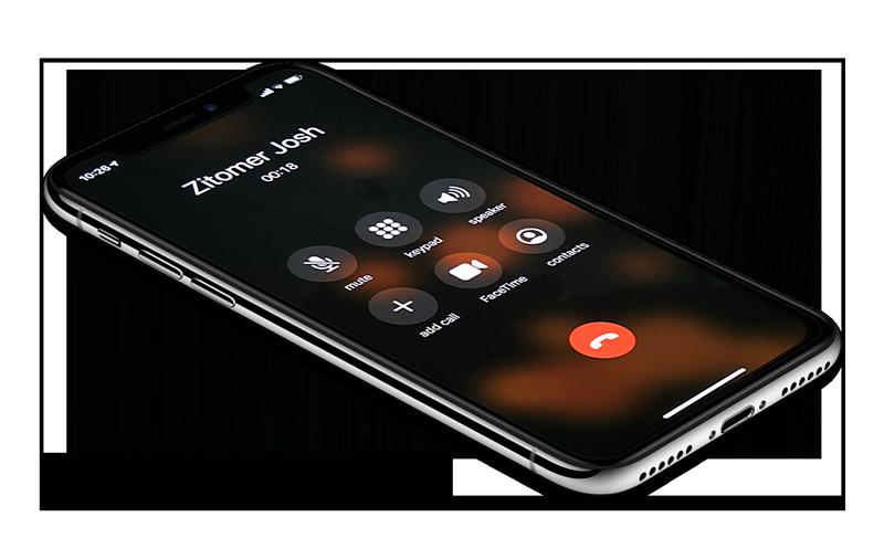 iPhone X calling Josh Zitomer