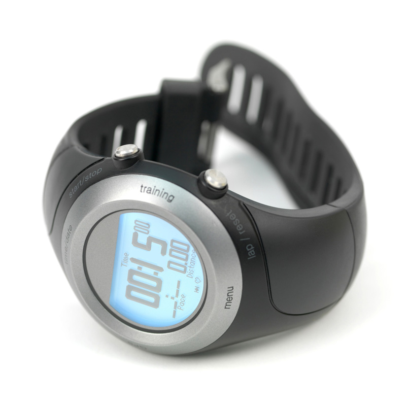 Fitness training watch showing 15 minutes
