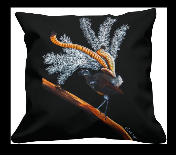 Lyrebird Cushion Cover PREORDER ARRIVES 30 OCTOBER