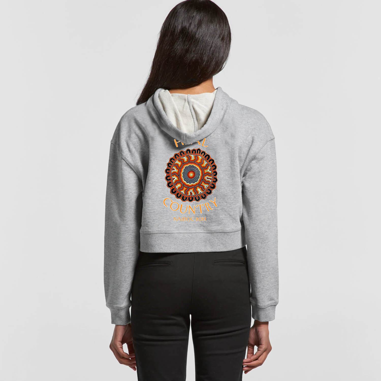 NAIDOC Descendants Yarning Circle Crop Hoodie