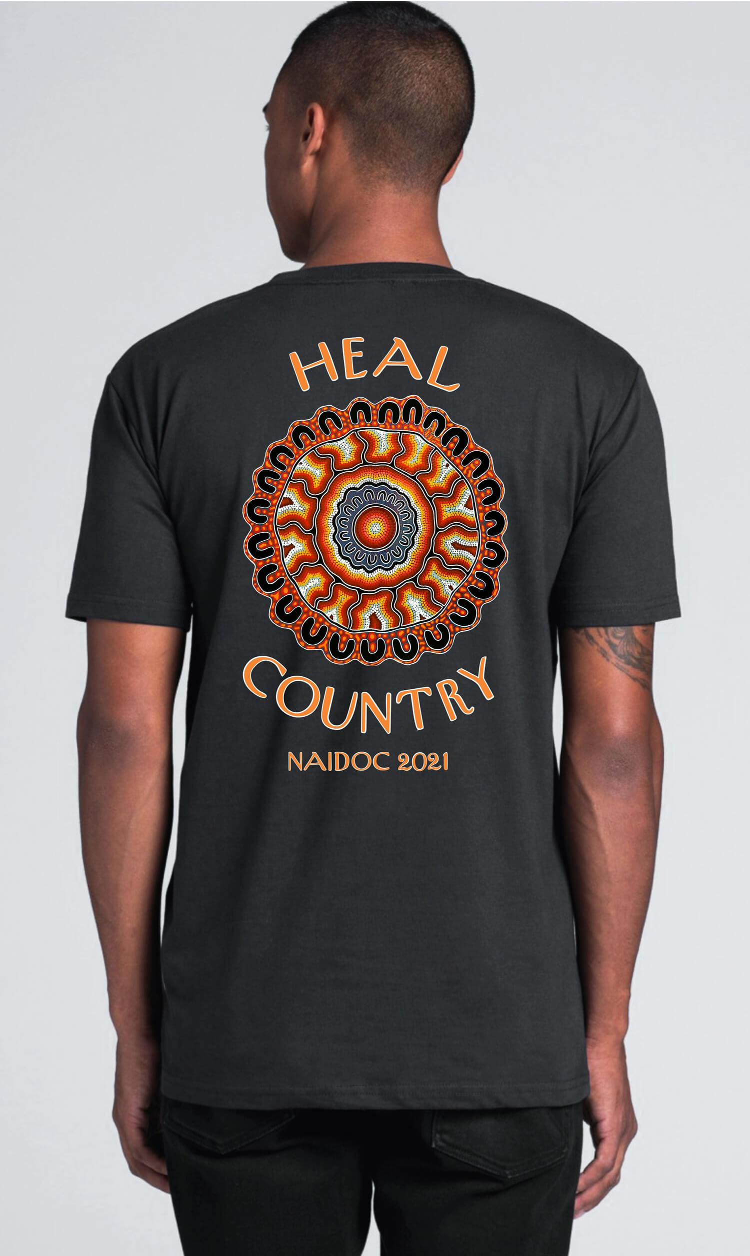 NAIDOC 2021 Yarning Circle Heal Country Mens Tee