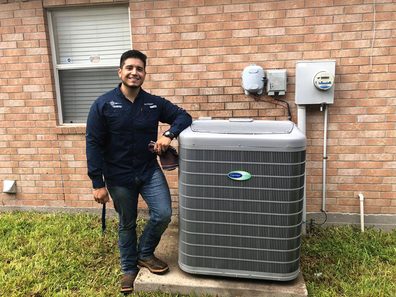 Residential air conditioning project in Mission, TX
