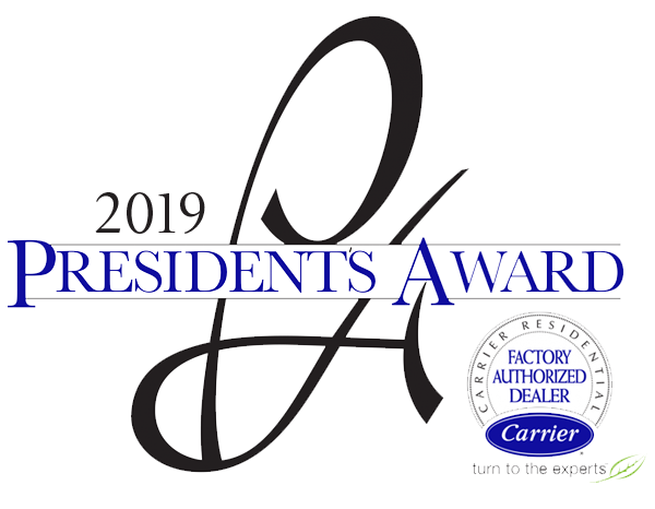Frontier Air Conditioning won the 2019 Presidents Award