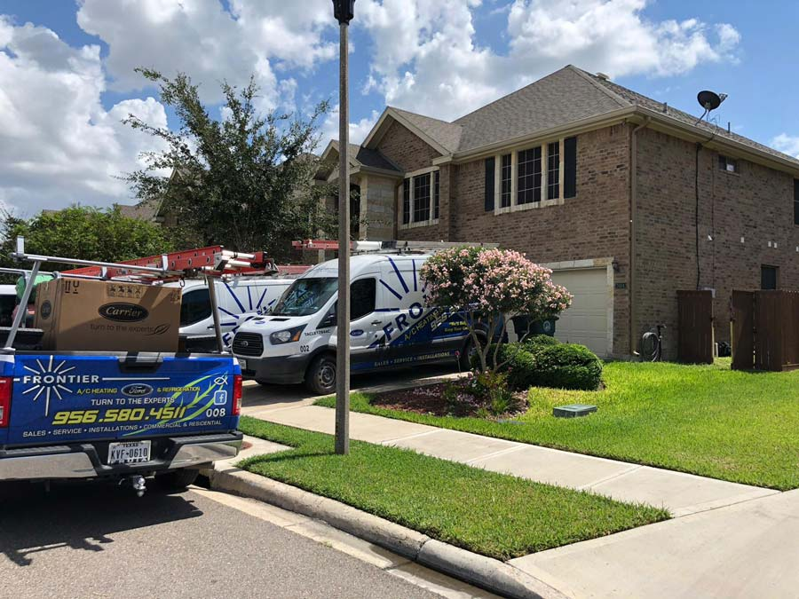 Frontier Air Conditioning at Residential site in Mission, TX