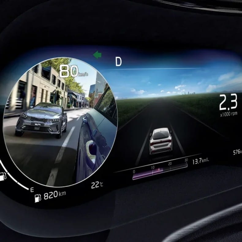 Камеры для контроля слепых зон с отображением на панель приборов (BVM)