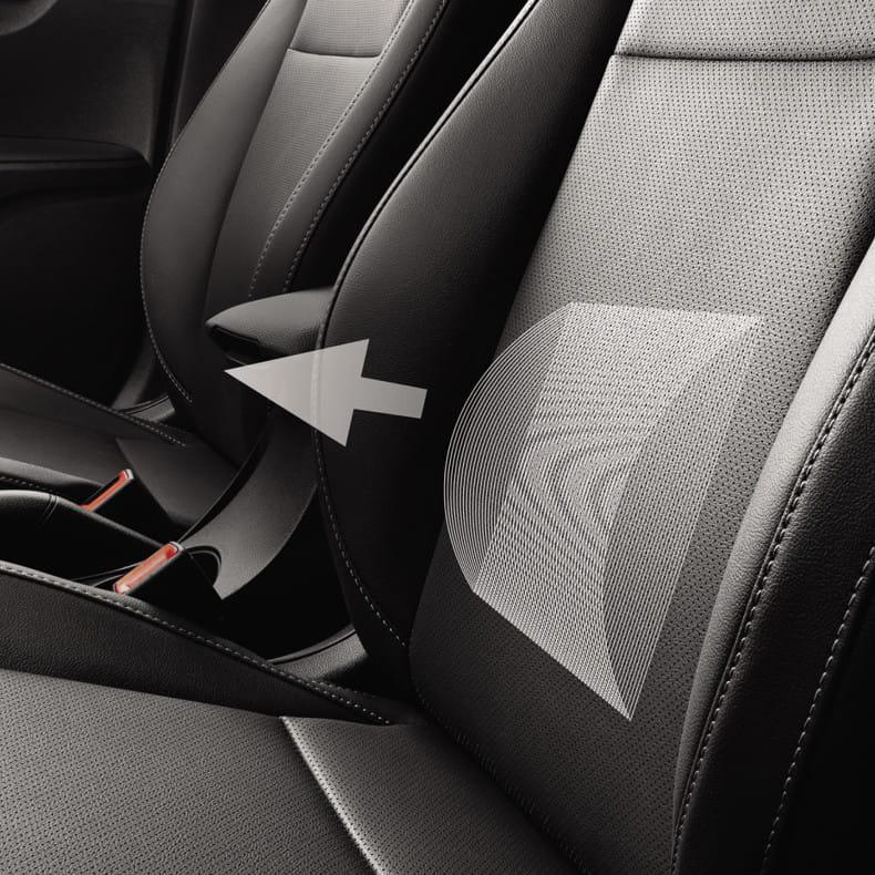 Поясничная поддержка сиденья водителя с электрорегулировкой