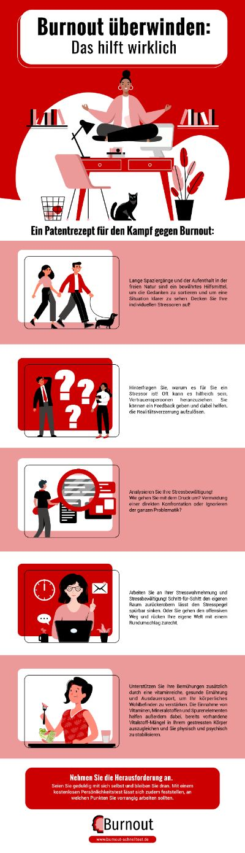 Infografik Burnout überwinden: Das hilft wirklich