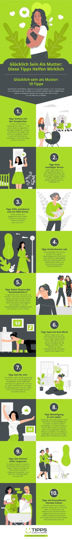 Infografik Glücklich Sein Als Mutter: Diese Tipps Helfen Wirklich
