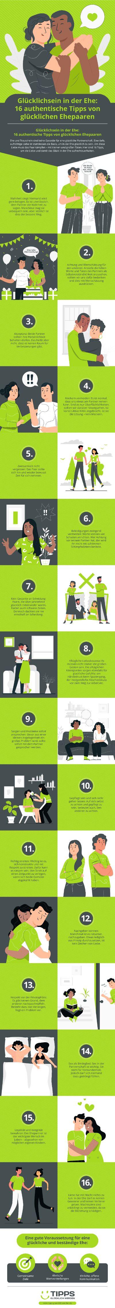Infografik Glücklich Sein In Der Ehe: Den Trauschein Nicht Als Garantie Ansehen
