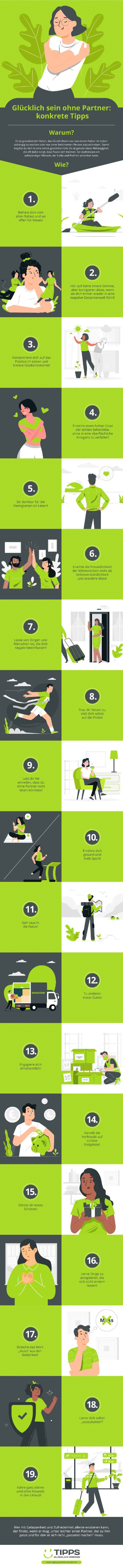 Infografik Glücklich Sein Ohne Partner: Das Geht