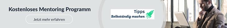 Banner kostenloses Mentoring Programm