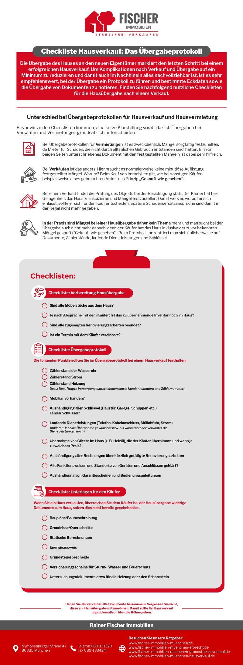 Infografik Hausverkauf: Wie Schreibe Ich Das Ãœbergabeprotokoll?