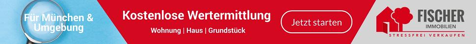 Banner kostenlose Wertermittlung Wohnung, Haus, Grundstück