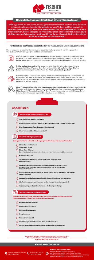 Ratgeber Hausverkauf Infografik - Hausverkauf: Wie Schreibe Ich Das Übergabeprotokoll?