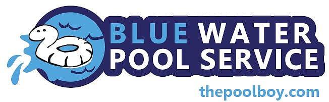 blue water pool service logo