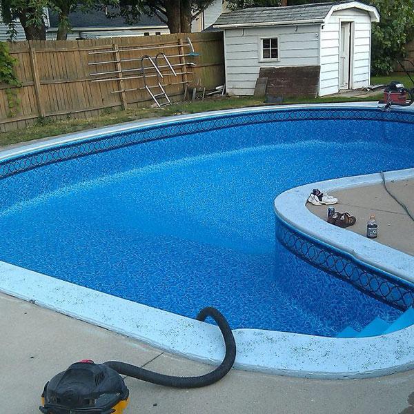 custom liner pool installation