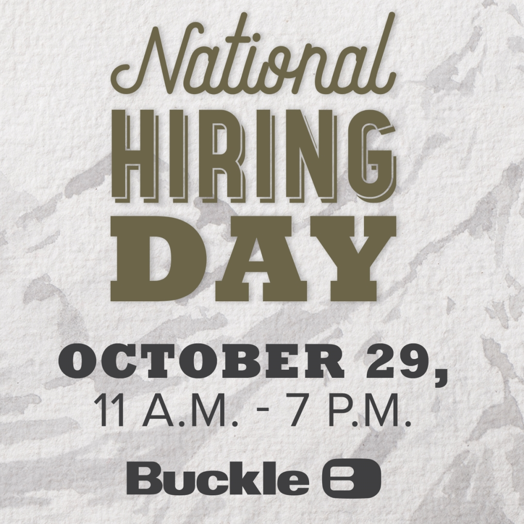 National hiring day at buckle october 29