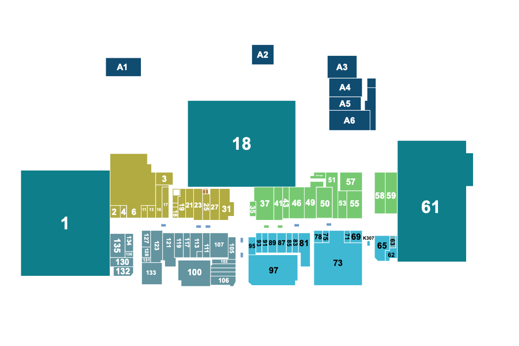 Map of the stores in Central Mall Texarkana