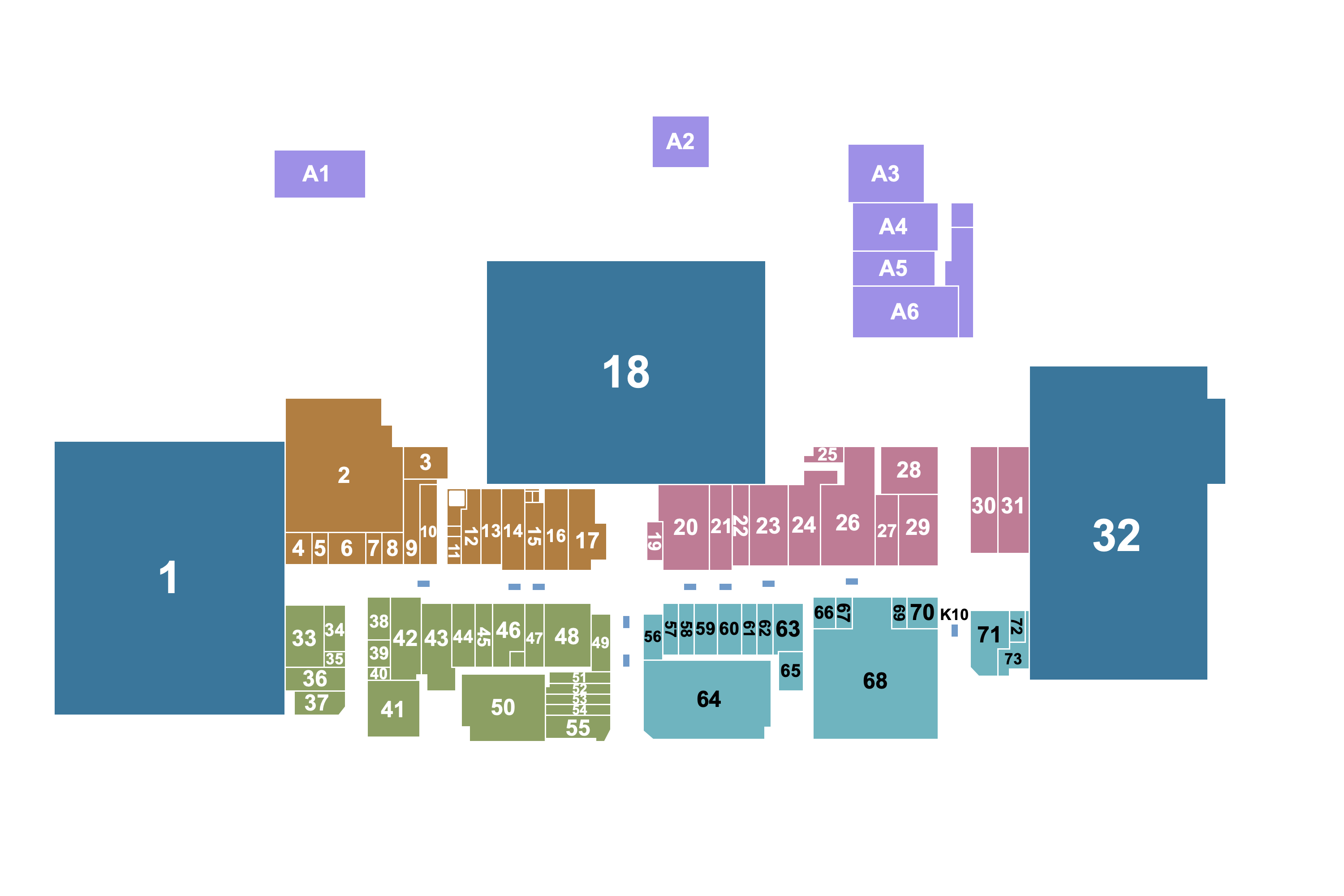 Map of the stores in Central Mall Lawton