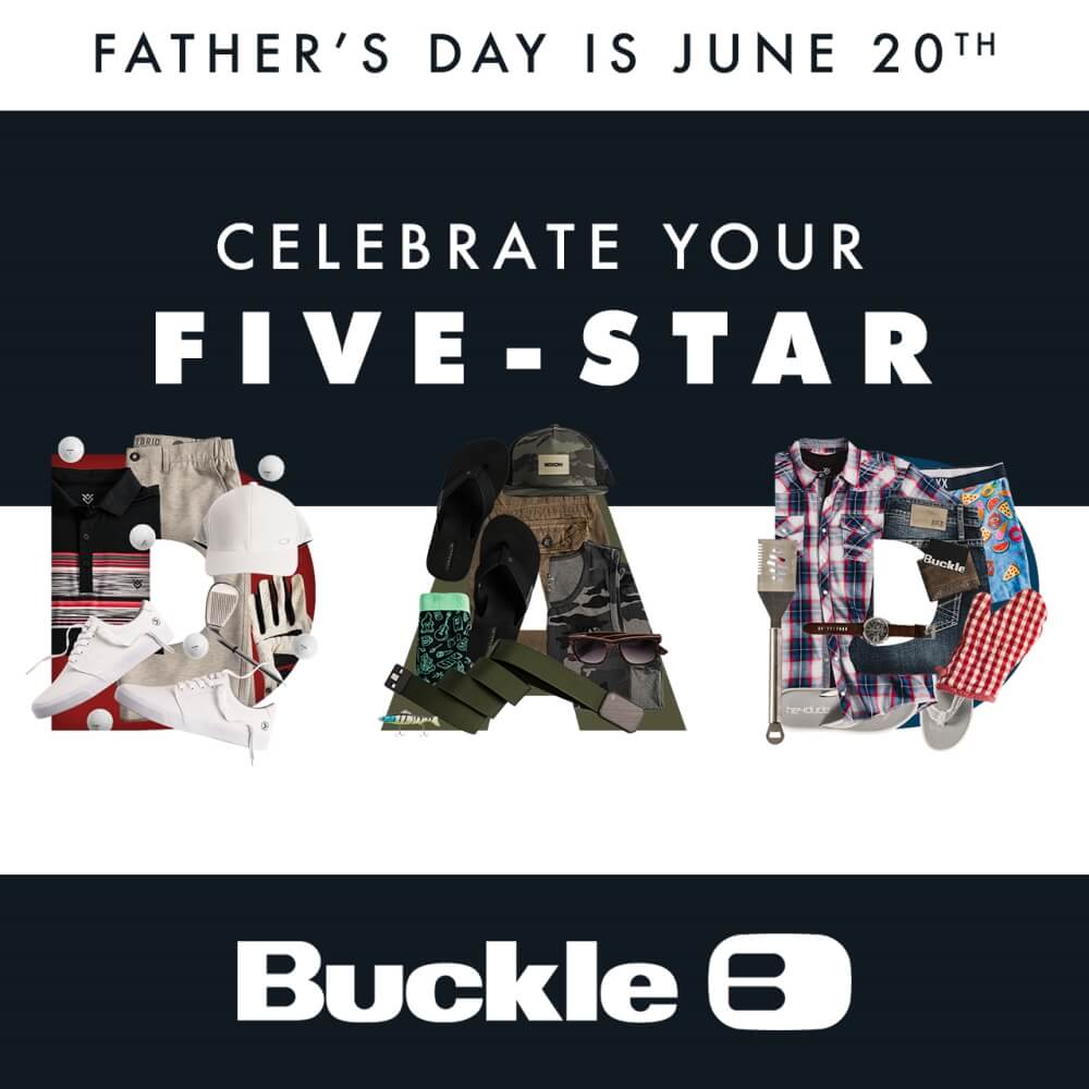 Celebrate your five-star dad graphic