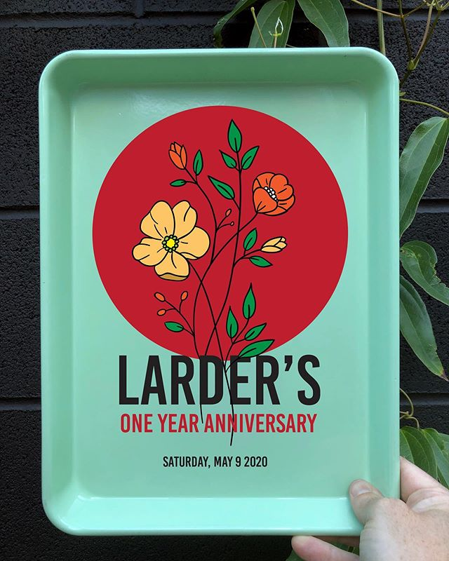 One year ago tomorrow, we opened Larder!  We'll celebrate with friends, cooks and farmers, near and far via a series of Instagram live sessions: demos, farm tours and performances from 12:30 to 5pm. You can find the schedule w/links in our stories. Thank you all so much for dreaming this dream with us! 😘 We'll keep you fed and hopefully healthy in the weeks and months ahead.  Online Store is open!