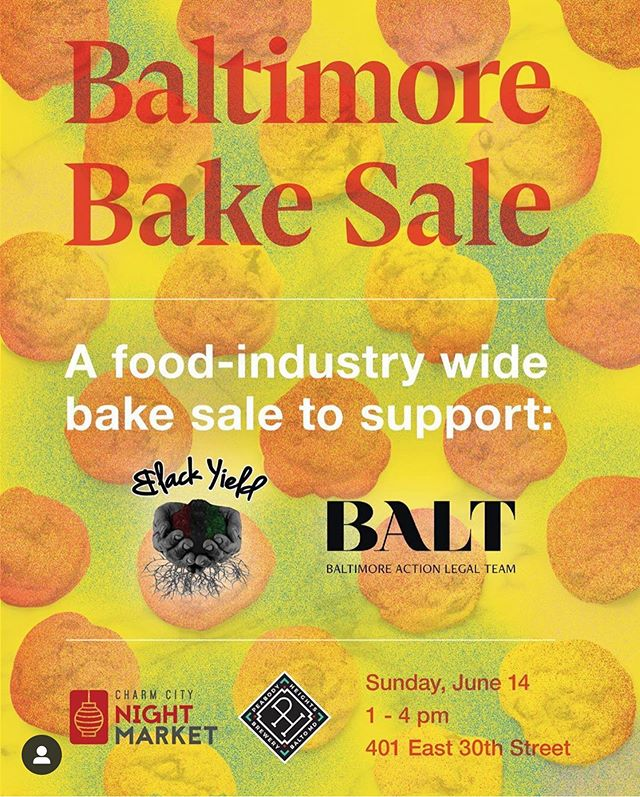 We made golden cakes as part of a fundraiser for @baltlegal and @blackyield organized by @cai_n_pepper (more info in his IG profile) @charmcitynightmarket and @peabodyheightsbrewery. Show up at Peabody Height Brewery Sunday June 14th 1-4 to get baked goods (social distancing in effect, wear your best mask!) and other treats from talented Baltimore chefs and bakers. Support black leaders and organizers in our community who will use your dollars to continue the work they have been doing and continue to do. And we will do more. #thisisjustthebeginning #blacklivesmatter