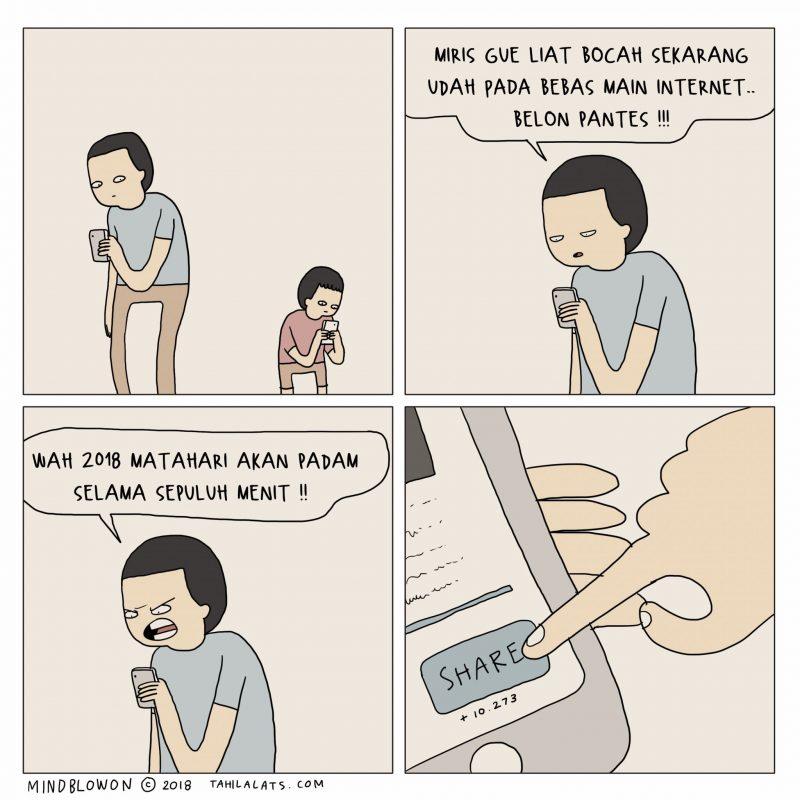 Comic strips karya Tahilalats