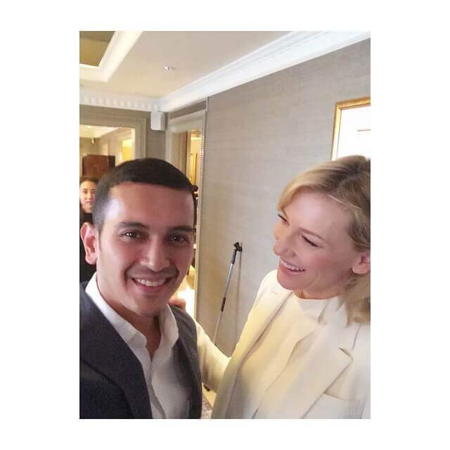 Dheniel Algamar Bersama Cate Blanchett