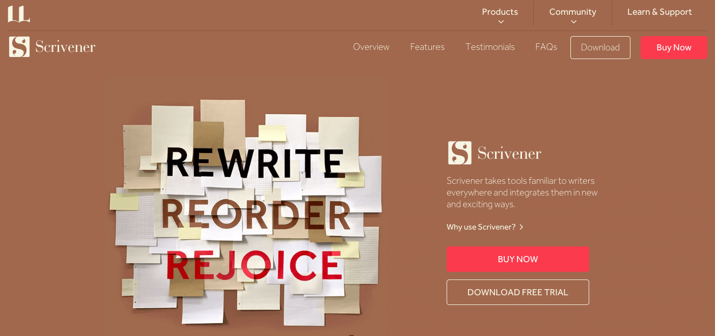 useful apps for writers scrivener