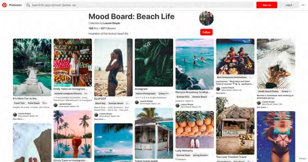 stand out with a unique instagram aestheic moodboard