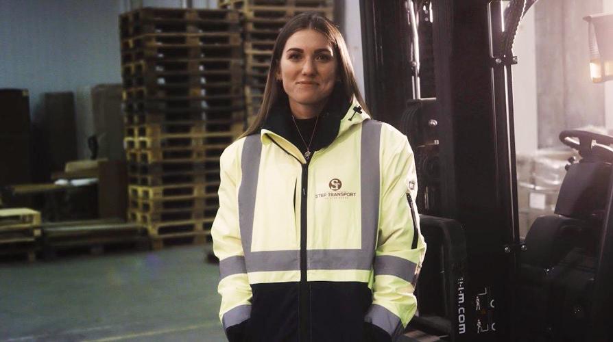 Grandhood kunde og HR ansvarlig Tina for Step Transport