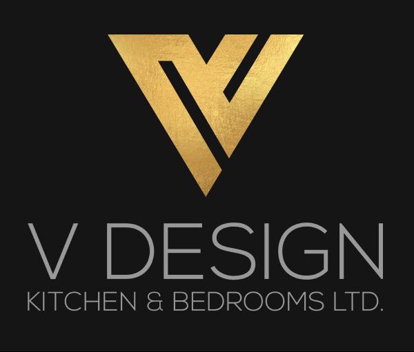 V design kitchen and bathroom logo