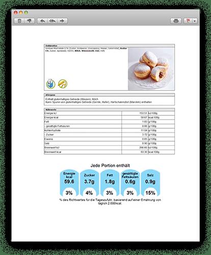 Lieferschein, Backzettel, Rechnung Speziell für Bäckerei