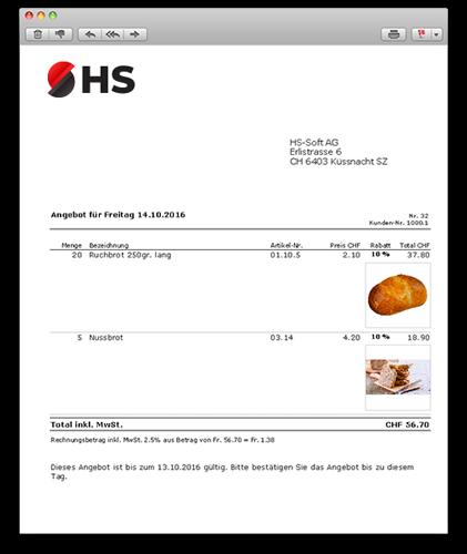 Bäckereisoftware für Warenwirtschaft FakturaAssist